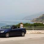 rit op kustweg Sicilië nabij Cefalù.
